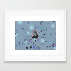 party flower - blue Framed Art Print