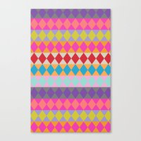Harlequin Pattern Canvas Print