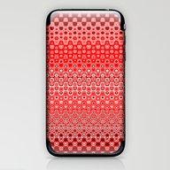 Mosaic Red iPhone & iPod Skin