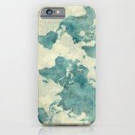 World Map Blue Vintage iPhone 6 Slim Case
