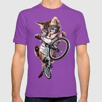 BMX CAT Mens Fitted Tee Ultraviolet SMALL
