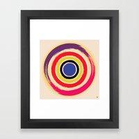 Compass Brush Framed Art Print