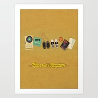 moonrise kingdom Art Prints featuring Moonrise Kingdom by Lindsey Pudlewski
