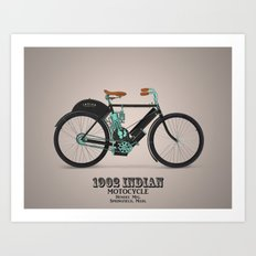 1902 indian motorcycle Art Print