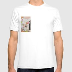 Mademoiselle White Mens Fitted Tee SMALL