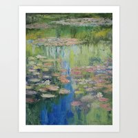 Water Lily Pond Art Print