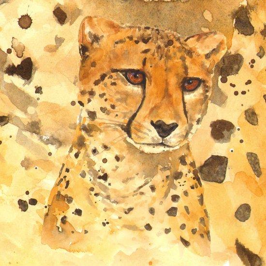 Camouflage cheetah, african animals, wild animal art, cheetah print, safari art, black and gold Canvas Print