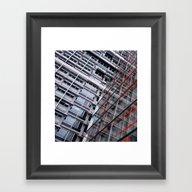 Window Facades Framed Art Print