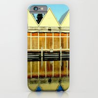 Reflections of an old boat Building iPhone 6 Slim Case