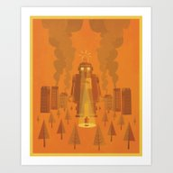 Art Print featuring Superheroes SF by Jorsh Pena