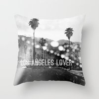 Los Angeles Lover Number… Throw Pillow