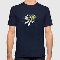 Hallucinating Pluto Mens Fitted Tee Navy SMALL