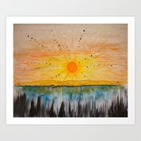 Island on the Sun  Art Print