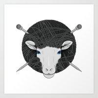Woollen Head (Sheep & Cr… Art Print
