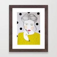 Girl In Pencil Framed Art Print