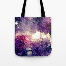watercolor galaxy Tote Bag