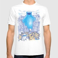 Monster in the city Mens Fitted Tee White SMALL