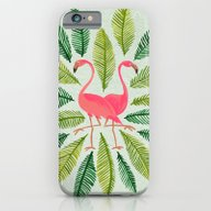 iPhone & iPod Case featuring Flamingos by Cat Coquillette