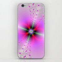 Floral Sprays in Pink and Green iPhone & iPod Skin