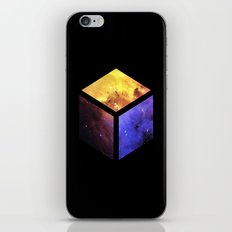 Nebula Cube - Black iPhone & iPod Skin