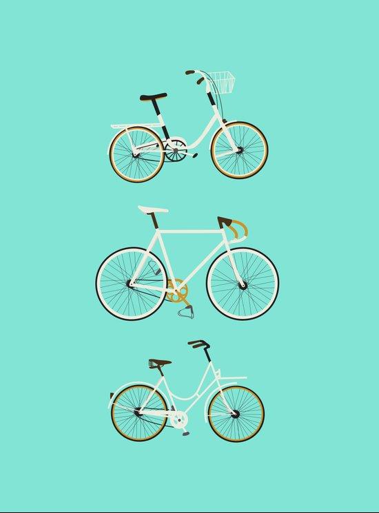 Trois vélos Art Print