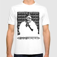 Amma Praying Mens Fitted Tee White SMALL
