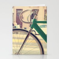 Geen Mint Bicycle in the City (Retro - Vintage Photography) Stationery Cards