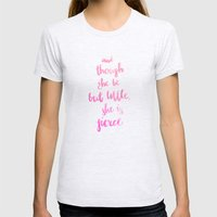 She is Fierce Womens Fitted Tee Ash Grey SMALL
