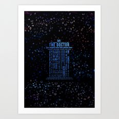 Travel in time Art Print