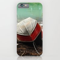 iPhone & iPod Case featuring Emerald lake Boat by Charlotte Keirle