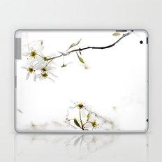 blossoming white Laptop & iPad Skin