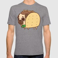 Puglie Taco Mens Fitted Tee Tri-Grey SMALL