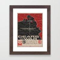 Gears of War Framed Art Print