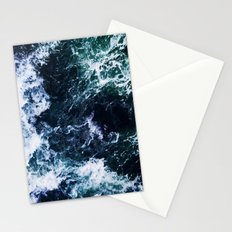 Wild ocean waves Stationery Cards