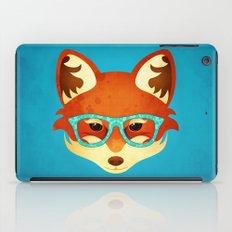 Hipster Fox: Azure iPad Case