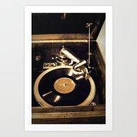 vintage music Art Print