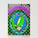 Grateful Dead #9 Optical Illusion Psychedelic Design Stationery Cards