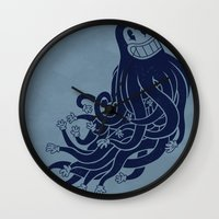 Octadecapus Wall Clock