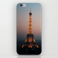 Paris Soft Sunset iPhone & iPod Skin