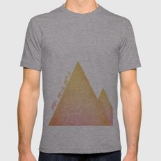 ascent Mens Fitted Tee Athletic Grey SMALL