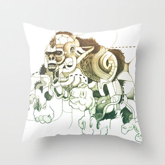 Gorilla gorilla gorilla! Throw Pillow