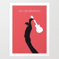 No002 MY THE WHO Minimal Music poster Art Print