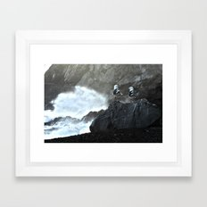 Birds and Waves Framed Art Print