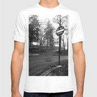 Do Not Enter Mens Fitted Tee White SMALL