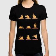 T-shirt featuring Pug Yoga by Huebucket
