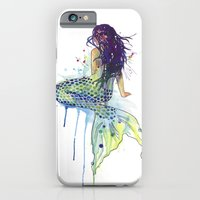 mermaid iPhone & iPod Cases featuring Mermaid by Sam Nagel