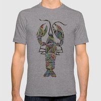 Lobster Mens Fitted Tee Athletic Grey SMALL
