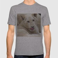 White Lion Cub - The Nex… Mens Fitted Tee Athletic Grey SMALL