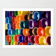stacked markers Art Print