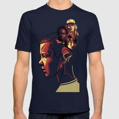 Stranger Things Navy Mens Fitted Tee SMALL